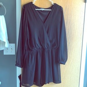 Black long sleeved romper